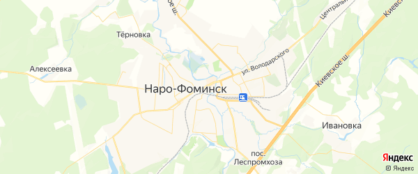 Карта Наро-Фоминска с районами, улицами и номерами домов