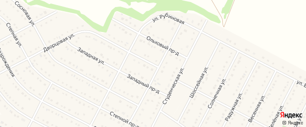 Студенческая улица на карте села Ближней Игуменки с номерами домов