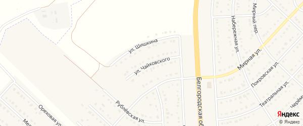 Улица Чайковского на карте поселка Разумного с номерами домов