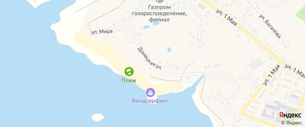 Донецкая улица на карте поселка Маслова Пристани с номерами домов