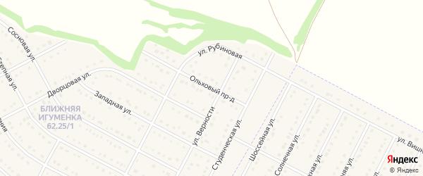 Ольховый проезд на карте села Ближней Игуменки с номерами домов