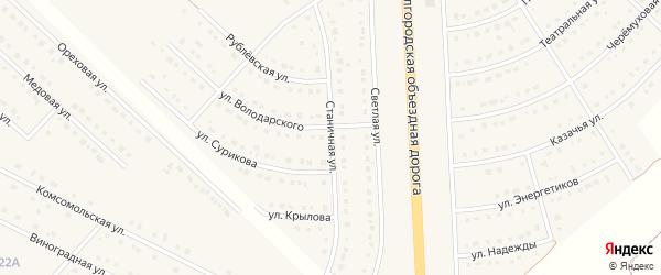 Станичная улица на карте поселка Разумного с номерами домов