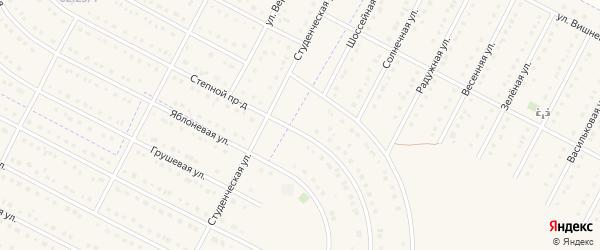 Шоссейная улица на карте села Севрюково с номерами домов