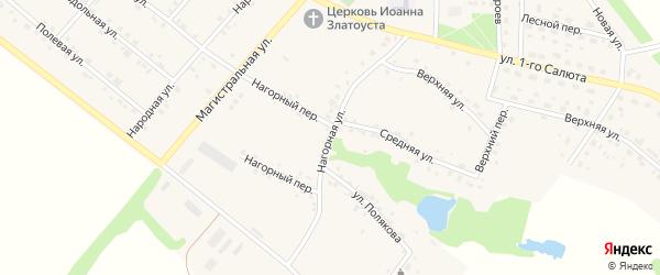 Нагорная улица на карте села Графовки с номерами домов