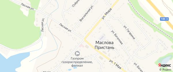 Улица Мира на карте поселка Маслова Пристани с номерами домов