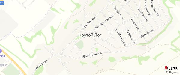 СТ Весна на карте села Крутого Лога с номерами домов