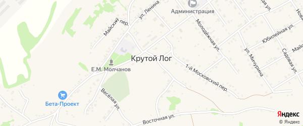 Восточный 2-й переулок на карте села Крутого Лога с номерами домов