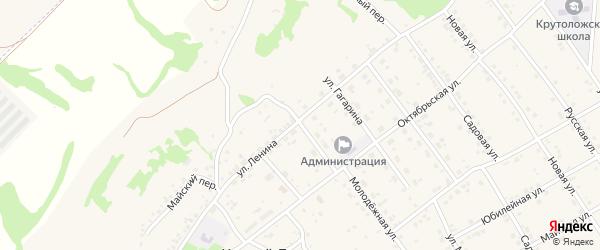 Октябрьский переулок на карте села Крутого Лога с номерами домов