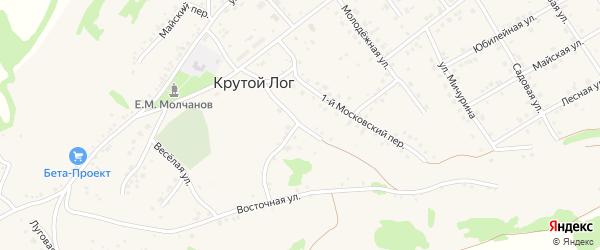 Восточный переулок на карте села Крутого Лога с номерами домов