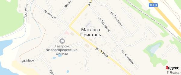 Речной переулок на карте поселка Маслова Пристани с номерами домов