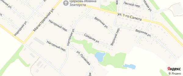 Средняя улица на карте села Графовки с номерами домов