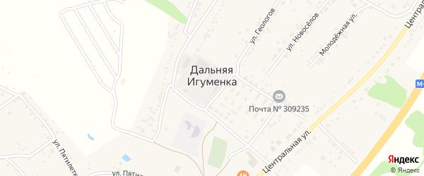 Весенняя улица на карте села Дальней Игуменки с номерами домов