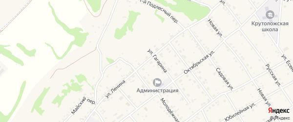 Улица Ленина на карте села Крутого Лога с номерами домов
