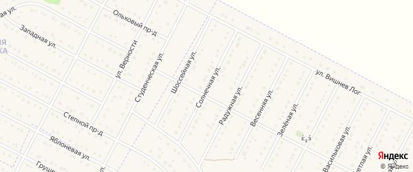 Солнечная улица на карте села Севрюково с номерами домов