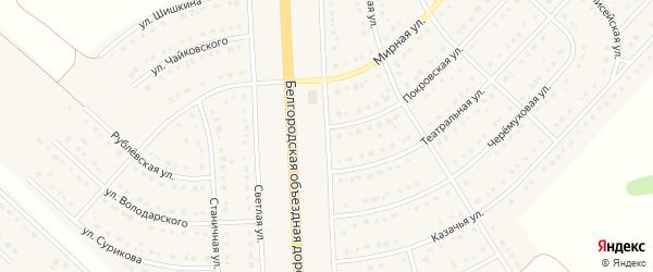 Студенческая улица на карте поселка Разумного с номерами домов