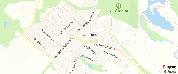 Карта села Графовки в Белгородской области с улицами и номерами домов