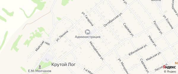Октябрьская улица на карте поселка Разумного с номерами домов