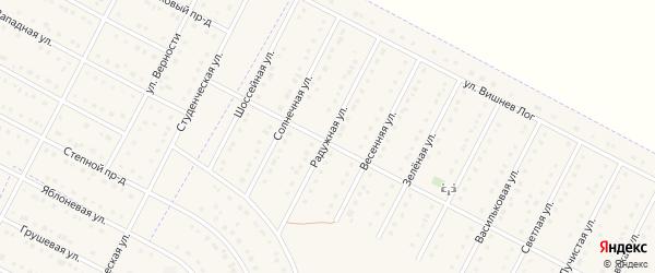 Радужная улица на карте села Севрюково с номерами домов