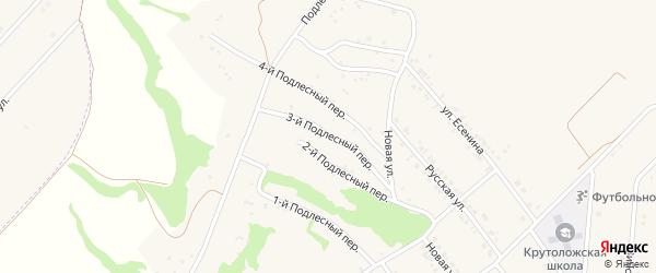 Подлестный 3-й переулок на карте села Крутого Лога с номерами домов