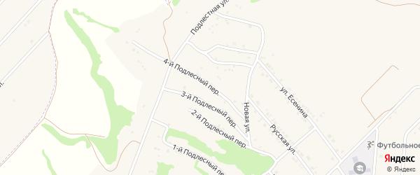 Подлестный 4-й переулок на карте села Крутого Лога с номерами домов