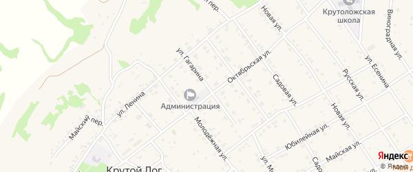 Улица Гагарина на карте села Крутого Лога с номерами домов