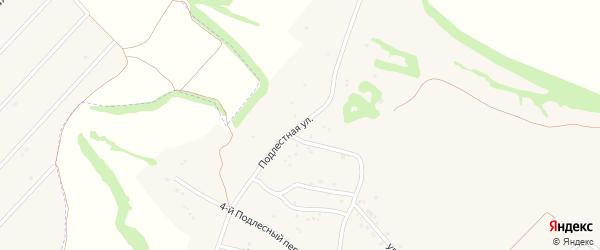 Подлестная улица на карте села Крутого Лога с номерами домов