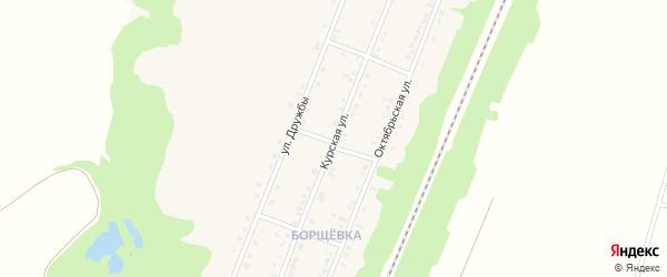 Курская улица на карте поселка Прохоровка с номерами домов