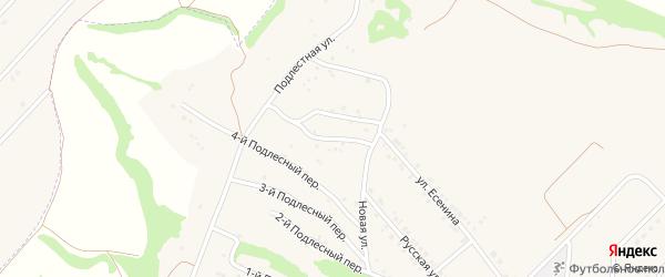 Подлестный 5-й переулок на карте села Крутого Лога с номерами домов