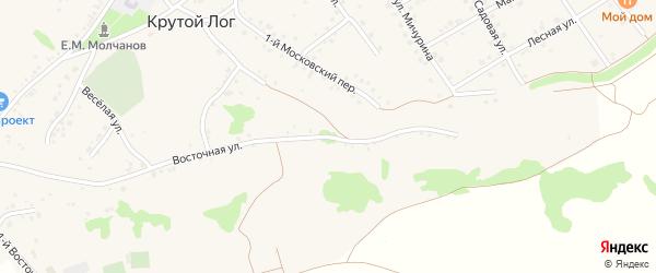 Восточная улица на карте села Крутого Лога с номерами домов