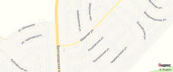 Мирная улица на карте поселка Разумного с номерами домов