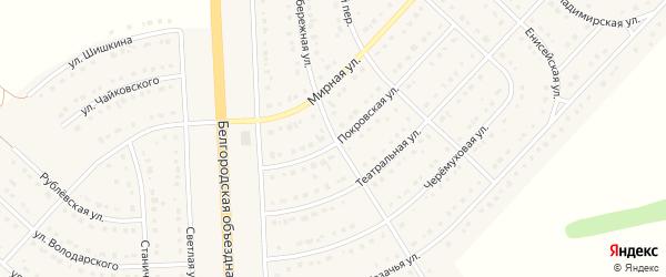 Набережная улица на карте поселка Разумного с номерами домов