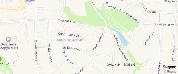 Улица Шпетного на карте поселка Прохоровка с номерами домов