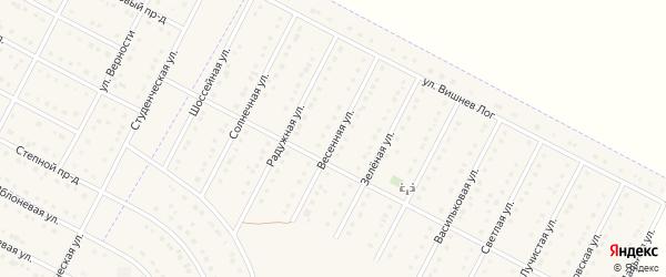 Весенняя улица на карте села Севрюково с номерами домов