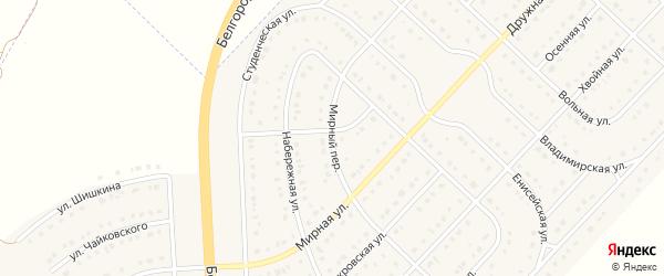 Мирный переулок на карте поселка Разумного с номерами домов