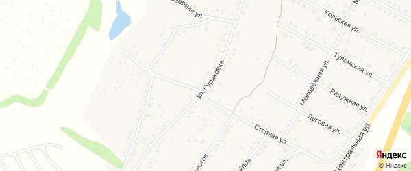 Улица Кураковка на карте села Дальней Игуменки с номерами домов