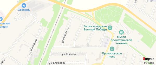 Дорожный 2-й переулок на карте поселка Прохоровка с номерами домов