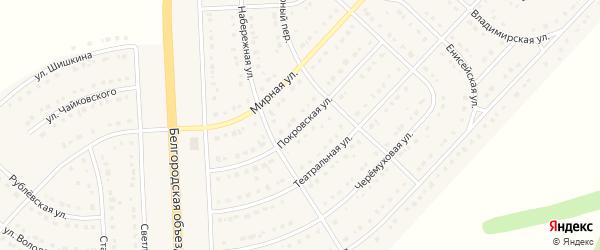 Покровская улица на карте поселка Разумного с номерами домов