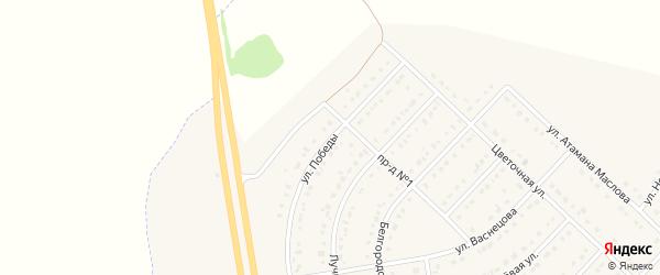 Улица Победы на карте поселка Маслова Пристани с номерами домов