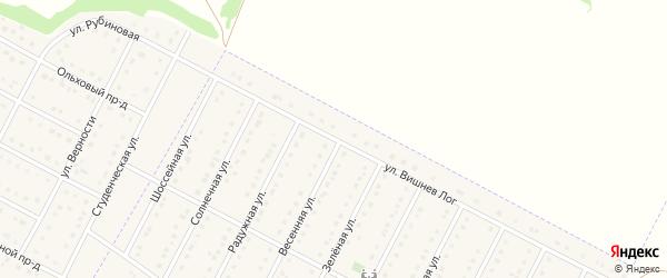 Улица Вишнев Лог на карте села Севрюково с номерами домов