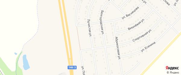 Лучистая улица на карте поселка Маслова Пристани с номерами домов