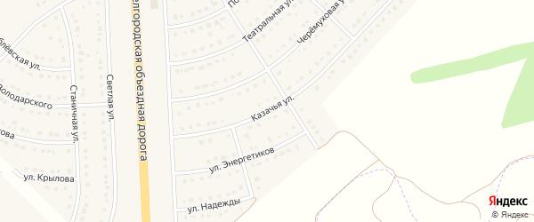 Казачья улица на карте поселка Разумного с номерами домов