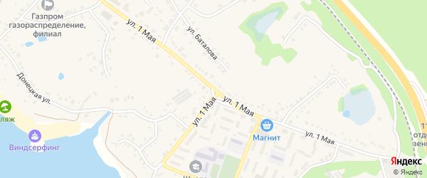 1 Мая улица на карте поселка Маслова Пристани с номерами домов