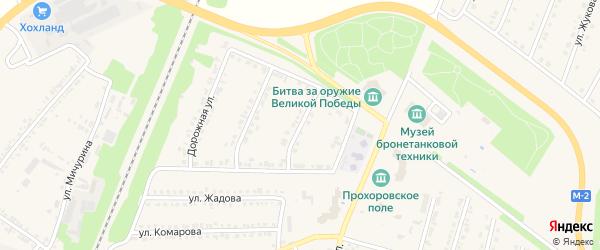 Дорожный 1-й переулок на карте поселка Прохоровка с номерами домов