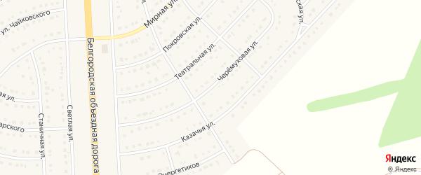 Черемуховая улица на карте поселка Разумного с номерами домов