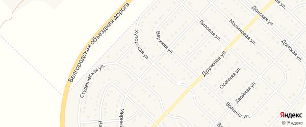 Хуторская улица на карте поселка Разумного с номерами домов