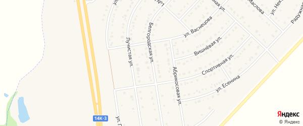Белгородская улица на карте поселка Маслова Пристани с номерами домов