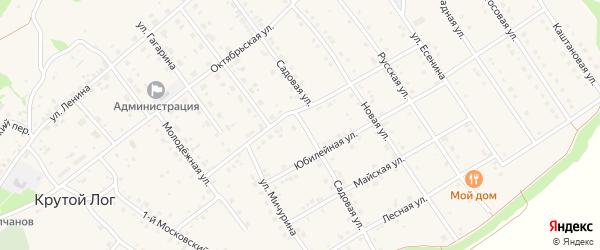 Садовая улица на карте села Крутого Лога с номерами домов