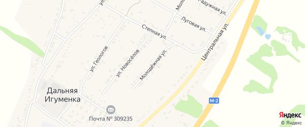 Молодежная улица на карте села Дальней Игуменки с номерами домов
