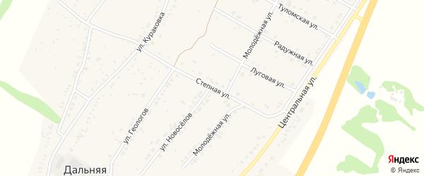 Степная улица на карте села Дальней Игуменки с номерами домов