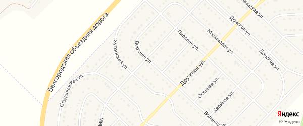 Верхняя улица на карте поселка Разумного с номерами домов
